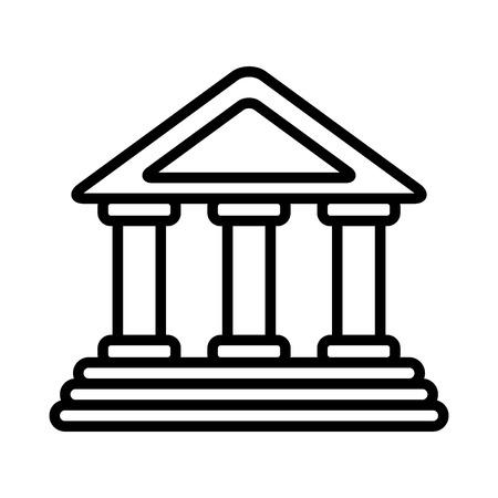 Bâtiment de banque isolé icône du design illustration vectorielle Banque d'images - 98574727