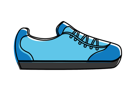 sport shoe isolated icon vector illustration thin line