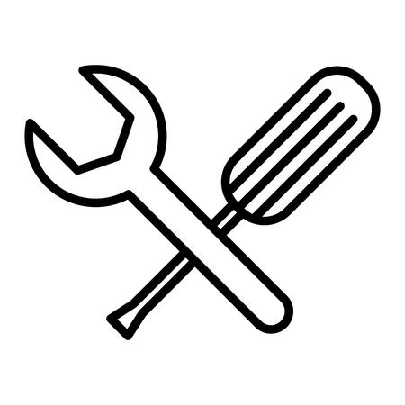 screwdriver and wrench tools vector illustration design Ilustração