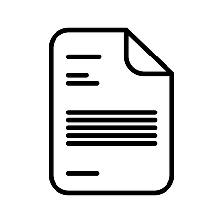 document report isolated icon vector illustration design