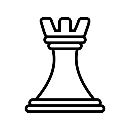 chess piece tower icon vector illustration design