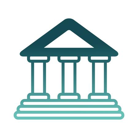 Bâtiment de banque isolé icône du design illustration vectorielle Banque d'images - 98574867