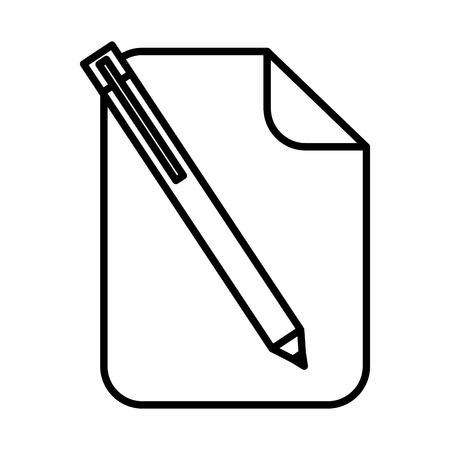 紙文書ペンアイコンベクトルイラストデザイン