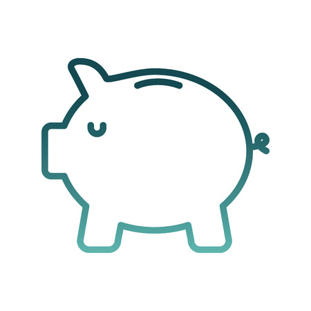 savings piggy isolated icon vector illustration design