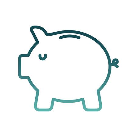 savings piggy isolated icon vector illustration design