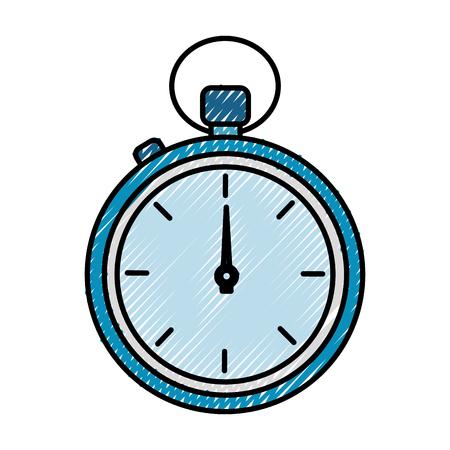 クロノメータータイマー隔離アイコンベクトルイラストデザイン  イラスト・ベクター素材