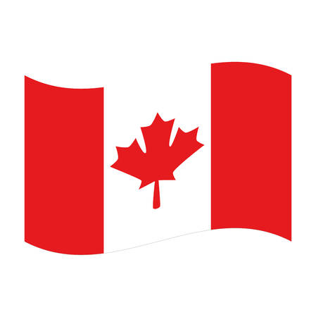 canadian flag country icon vector illustration outline Illustration