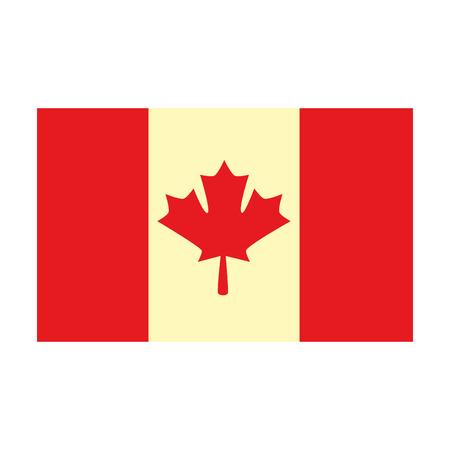 Profilo dell'illustrazione di vettore dell'icona del paese della bandiera canadese Archivio Fotografico - 98575003
