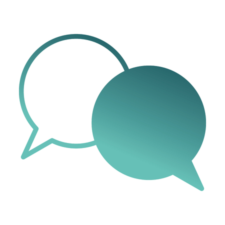 speech bubbles comunication icon vector illustration design