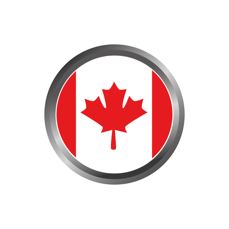 Drapeau du canada bouton vecteur illustration design Banque d'images - 98575025