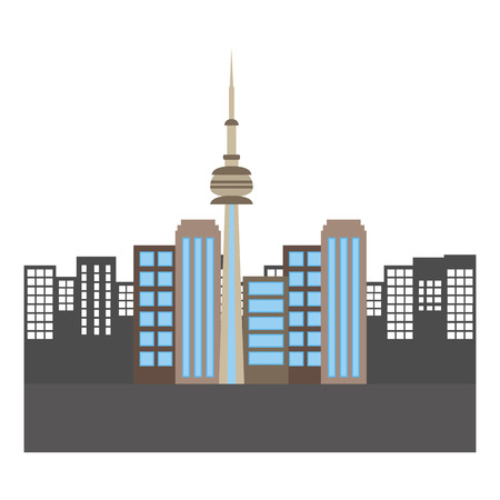 toronto canada city scene vector illustration design Banco de Imagens - 98575085