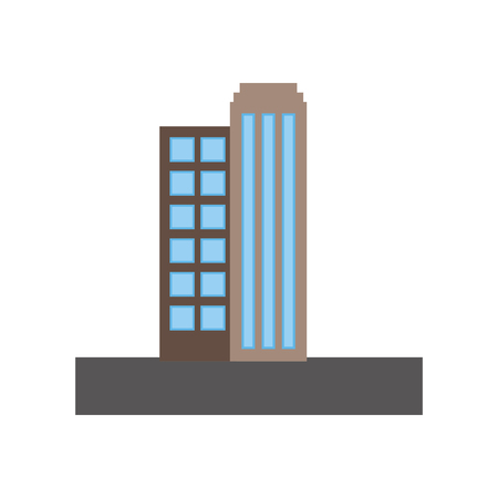buildings cityscape scene icon vector illustration design Stock Vector - 98575086