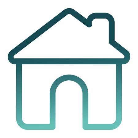 house building silhouette icon vector illustration design