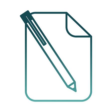 paper document pen icon vector illustration design