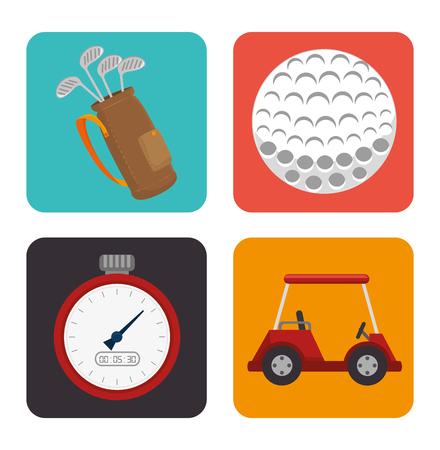 Golf sport design theme, vector illustration