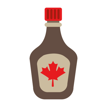 bottle syrup maple icon vector illustration design Illusztráció