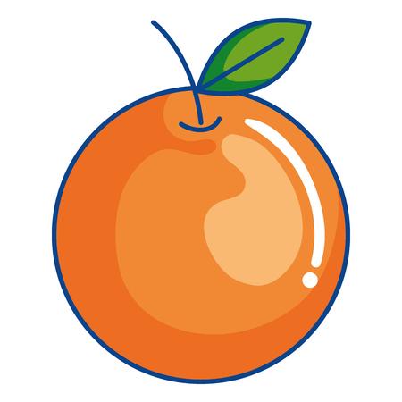 orange citrus fruit icon vector illustration design