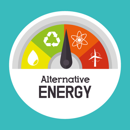 Eco green energy design, vector illustration