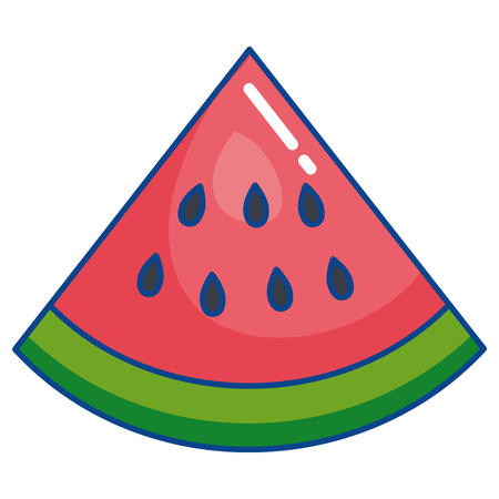 fresh watermelon fruit icon vector illustration design