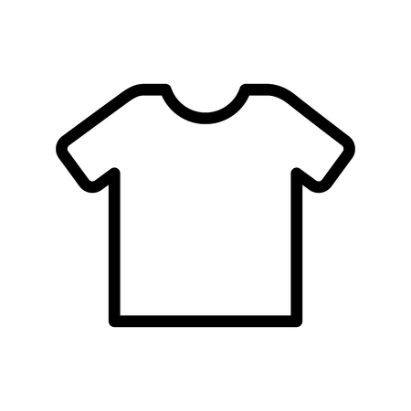 shirt clothes isolated icon vector illustration design Illustration