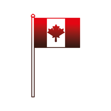 canadian flag country icon vector illustration outline Foto de archivo - 98575239