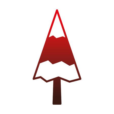pine tree natural forest concept vector illustration outline Ilustração