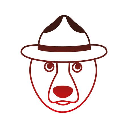 Ours grizzly avec chapeau conception vecteur illustration Banque d'images - 98575266