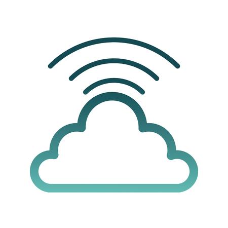 cloud computing with wifi signal vector illustration design Archivio Fotografico - 98575272