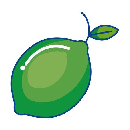 fresh lemon citrus fruit icon vector illustration design Illustration