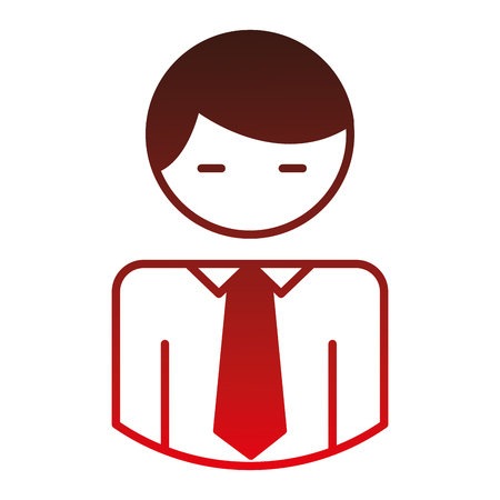 businessman character avatar icon vector illustration design Иллюстрация