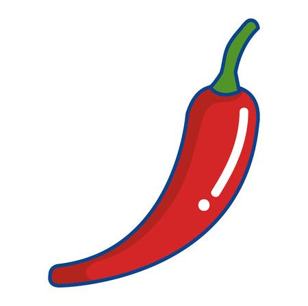 chili pepper vegetable healthy food vector illustration design