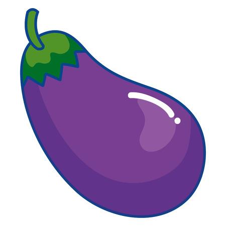 beet eggplant vegetable healthy food vector illustration design