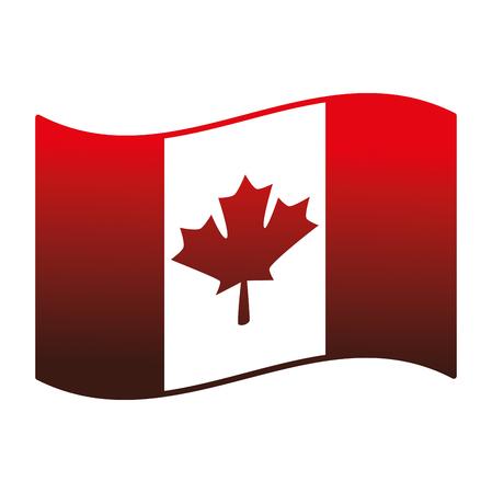 canadian flag country icon vector illustration outline Foto de archivo - 98575277