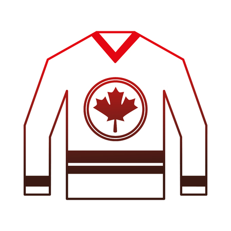 c jersey with flag canadian vector illustration design