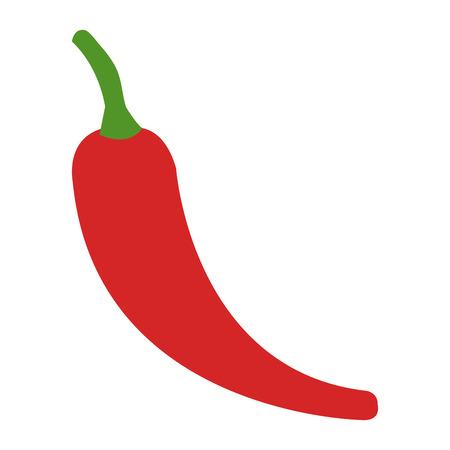 chilli pepper vegetable healthy food vector illustration design