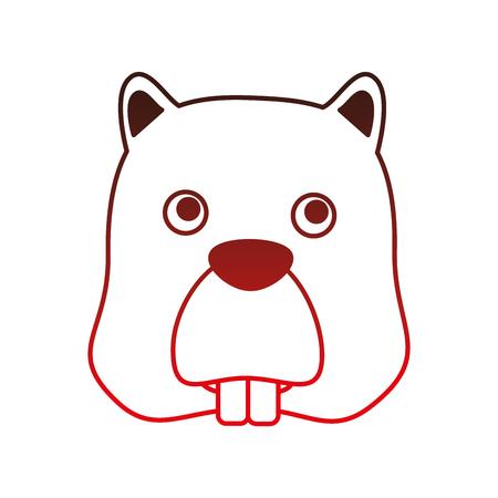 ビーバーヘッド動物アイコンベクトルイラストデザイン