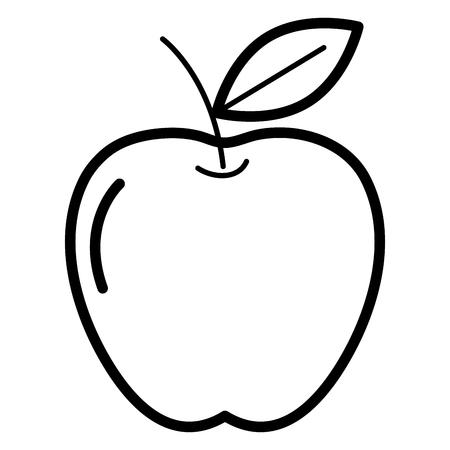 apple fresh fruit icon vector illustration design Illusztráció