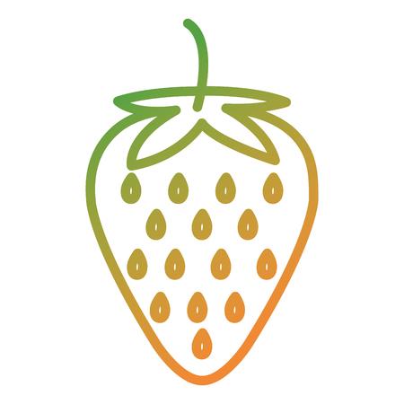 fresh strawberry fruit icon vector illustration design