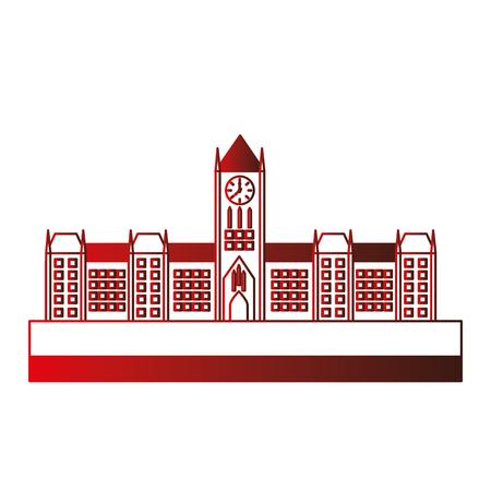 오타와 캐나다 의회 건물 외관 벡터 일러스트 레이 션 디자인 스톡 콘텐츠 - 98593391