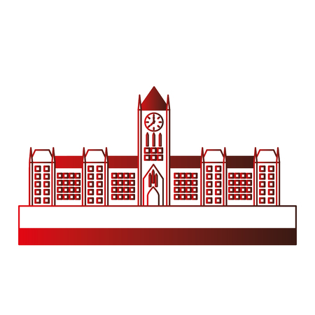 ottawa canada parliament building facade vector illustration design  イラスト・ベクター素材