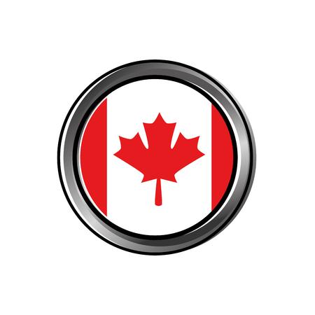 カナダボタンベクトルイラストデザインのフラグ  イラスト・ベクター素材