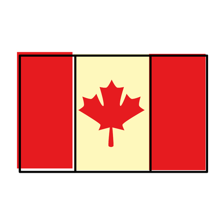 canadian flag country icon vector illustration outline Foto de archivo - 98574225