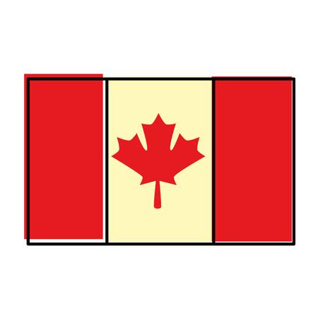 Profilo dell'illustrazione di vettore dell'icona del paese della bandiera canadese Archivio Fotografico - 98574225