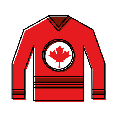 jersey with flag canadian vector illustration design Ilustração