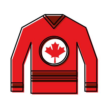 jersey with flag canadian vector illustration design Illustration