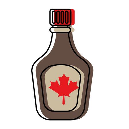 Flasche Sirup Ahorn Symbol Vektor-Illustration Design Standard-Bild - 98595356
