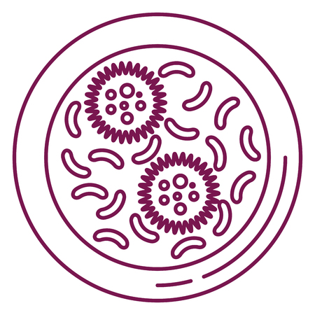 bacterial culture biolological icon vector illustration design