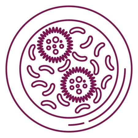 bacterial culture biolological icon vector illustration design Stock fotó - 98595477