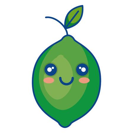 fresh lemon citrus fruit icon vector illustration design Ilustração