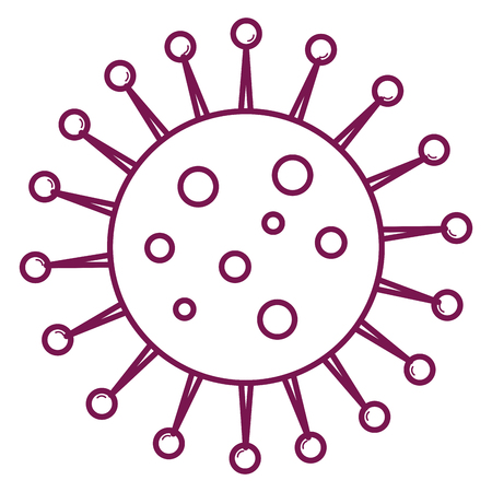 unicellular bacteria laboratory icon vector illustration design